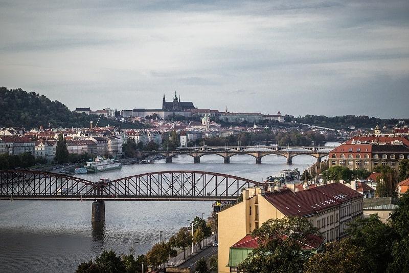 נהר הוולטאבה לפנות בוקר