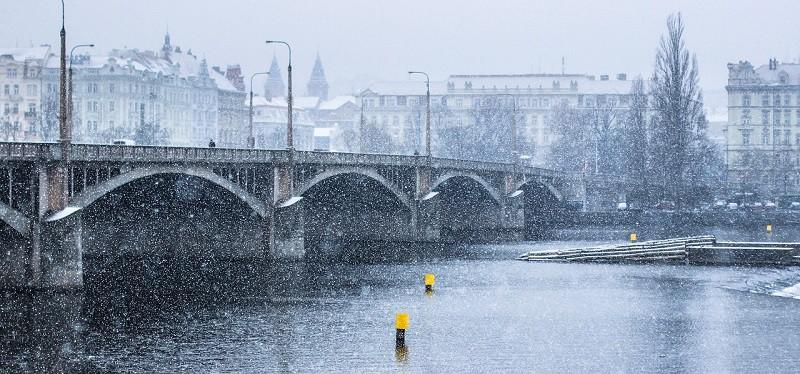 סופת שלגים בפראג